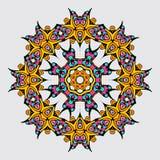 Mandala W orientała stylu również zwrócić corel ilustracji wektora Zdjęcie Stock