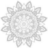 Mandala W zawiły sposób wzorów Czarny I Biały Dobry nastrój royalty ilustracja