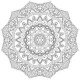 Mandala W zawiły sposób wzorów Czarny I Biały Dobry nastrój ilustracji