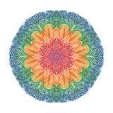 Mandala watercolor. Beautiful watercolor mandala. Ornate round ornament. Decor for your design stock illustration