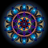 Mandala Wheel av öden Fotografering för Bildbyråer