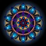 Mandala Wheel des Schicksals Stockbild