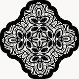 Mandala On White noire sans couture Illustration Stock
