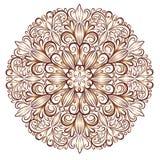 Mandala wzór w witrażu stylu Obrazy Royalty Free