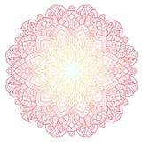 Mandala wzoru barwiony tło również zwrócić corel ilustracji wektora Medytacja element dla India joga Ornament dla dekorować a Fotografia Stock