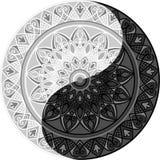 Mandala Yin Yang Imagen de archivo libre de regalías