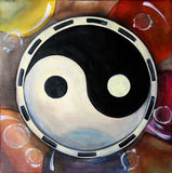 Mandala Yin Yang Royalty-vrije Stock Foto's