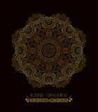 Mandala złota sztuka Obrazy Royalty Free