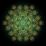 Mandala złoto dekoracyjny ornament Stresu mandala Iść ilustracja wektor