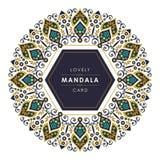 Mandala z eleganckim i uroczym dekoracyjnym projektem zdjęcia stock