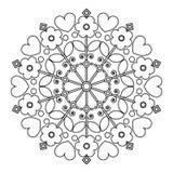 Mandala z kwiatami dla children rozrywki Obraz Royalty Free