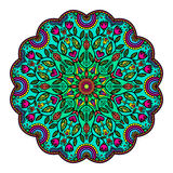 Mandala Z kwiatami I insektami Fotografia Royalty Free