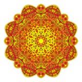 Mandala Z kwiatami I insektami Zdjęcia Stock