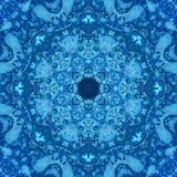 Mandala z sztuki akwareli handmade teksturą obraz royalty free