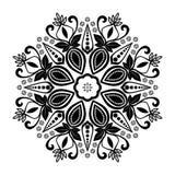 Mandala zawijasa projekta bielu Kwiecisty Centrum tło ilustracja wektor