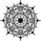 Mandala, zentagle inspired illustration, black and Stock Images