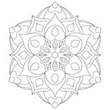Mandala/Zentangle circle coloring book page for adults - Tattoo sketch Stock Photos