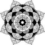 Mandala, zentangle inspired illustration, black Royalty Free Stock Images