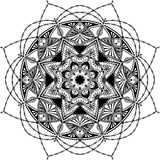 Mandala, zentangle inspired illustration Royalty Free Stock Photos