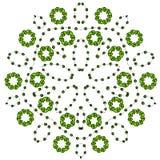 Mandala zentangle spornte Blume, Gekritzelzeichnung der runden dekorativen bunten Mandala an Stockfotografie