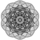 Mandala in zentangle style handdrawn Stock Images