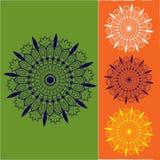 Mandala/Zentangle sztuki projekt, joga chakras ilustracja wektor