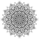 Mandala in zwart-wit Royalty-vrije Stock Afbeelding