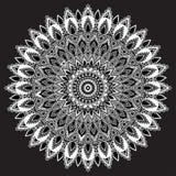 Zwarte oosterse mandala vector illustratie afbeelding 57218810 - Oosters stof ...