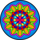 Mandala1. Indian simetric circular symbolic forms best known as mandalas. Ritualistic geometric designs symbolic of the universe, used in Hinduism and Buddhism stock illustration