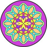 Mandala2. Indian simetric circular symbolic forms best known as mandalas. Ritualistic geometric designs symbolic of the universe, used in Hinduism and Buddhism stock illustration