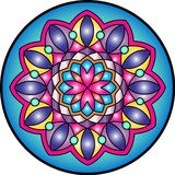 Mandala3. Indian simetric circular symbolic forms best known as mandalas. Ritualistic geometric designs symbolic of the universe, used in Hinduism and Buddhism stock illustration