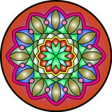 Mandala4. Indian simetric circular symbolic forms best known as mandalas. Ritualistic geometric designs symbolic of the universe, used in Hinduism and Buddhism royalty free illustration