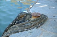 MandalaA fiskeport i det traditionella medelhavs- Royaltyfri Bild