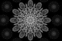 Mandalaachtergrond Royalty-vrije Stock Afbeelding