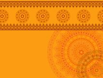 Mandalaachtergrond van de henna Royalty-vrije Stock Afbeelding
