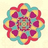 Mandalabakgrund Fotografering för Bildbyråer