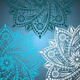 Mandalabakgrund Bohemisk stil Arkivfoto
