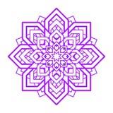 Mandalabloem Het vectorelement van het yogaontwerp Abstract rond symbool Violette bloemenillustratie Modern idee voor yoga, medit vector illustratie