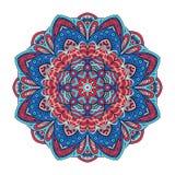 Mandalabloem zentangl Vectoreps 10 Rond ornament Stock Foto