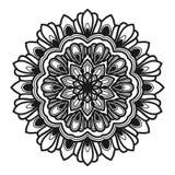 Mandalablumen-Illustrationsvektor stock abbildung