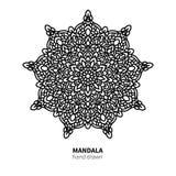 Mandalablumen-Vektorzeichnung Dekoratives boho runde Verzierung Stockbilder