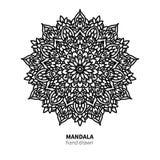 Mandalablumen-Vektorzeichnung Dekoratives boho runde Verzierung Lizenzfreies Stockfoto