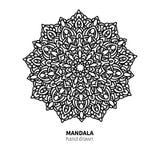 Mandalablumen-Vektorzeichnung Dekoratives boho runde Verzierung Stockfotos