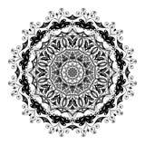 Mandalablumenform, Design verzieren Lizenzfreie Stockfotos