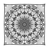 Mandalablumenform für Visitenkarten flayers Fahnen Lizenzfreie Stockbilder