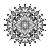 Mandalablumenform, Vektordesign verzieren Lizenzfreie Stockfotos