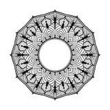 Mandalablumenform, Vektordesign verzieren Lizenzfreies Stockbild