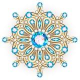 Mandalabroschsmycken, designbeståndsdel Stam- etniskt blom- klappar Royaltyfria Bilder