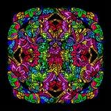 Mandalabuntglas Stockbild
