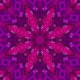 Mandalacaleidoscoop, magisch symmetrisch ingewikkeld abstract effect mozaïek, oosters decor stock illustratie